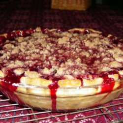 Fresh Raspberry Crumb Pie recipe