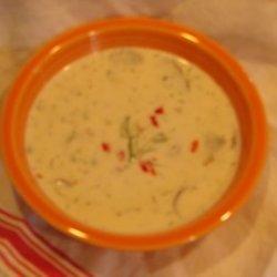 Dilled Crab and Mushroom Chowder recipe