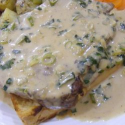 Steaks With Whiskey Cream Sauce recipe