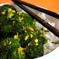 Stir Fried Broccoli With Orange and Ginger recipe