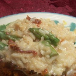 Risotto With Asparagus and Sun-Dried Tomatoes recipe