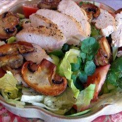 Chicken Salad With Sauteed Mushrooms recipe