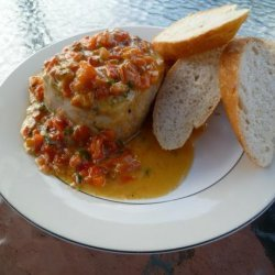 Tuna Steaks With Roasted Red Pepper Sauce recipe