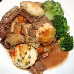 Beef Casserole With Herb Dumplings recipe
