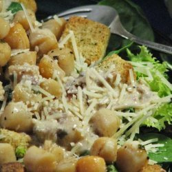 Seared Digby Scallop Caesar Salad With Low Fat Dressing recipe