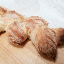 Easy Wheat Stalk Bread (Rustic  pain D'epi ) recipe