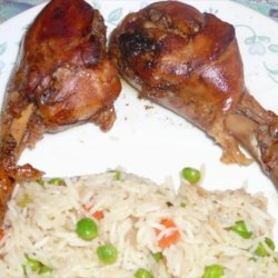 Low Fat Rice With Peas & Carrots (Kosher-Pareve) recipe