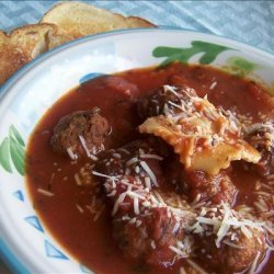 Meatball and Ravioli Soup recipe