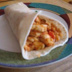 Nacho Chicken and Rice Wraps (4 Ww Points) recipe