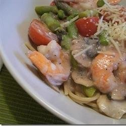 Shrimp and Mushroom Angel Hair Pasta recipe