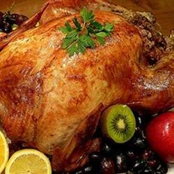 Roast Turkey With Tasty Chestnut Stuffing recipe