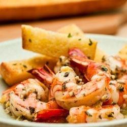 Shrimp Scampi with Garlic Bread recipe