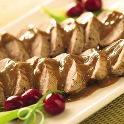 Pork Tenderloins with Asian Peanut Sauce recipe