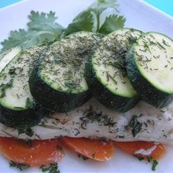 Halibut Wrapped in Dill Packages recipe