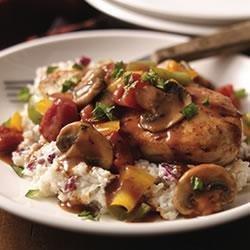Chicken Cacciatore with Creamy Mashed Potatoes recipe