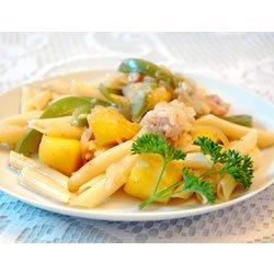 Chicken and Pasta in a Mango Cream Sauce recipe