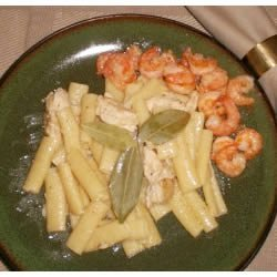 Chicken and Shrimp Linguine recipe