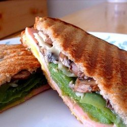 Turkey 2-Cheese Panini With Sauteed Vegetables recipe