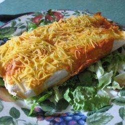 Red Pepper Sauce Chicken Enchiladas recipe