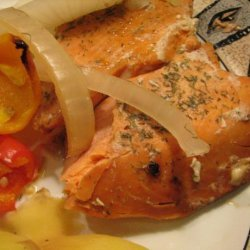 Smoked Salmon With Sweet Onions recipe