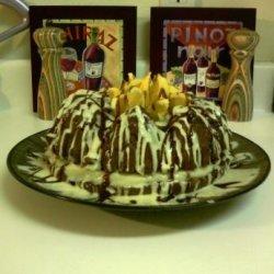 Chocolate Custard Cake With Butterscotch Orange Frosting recipe