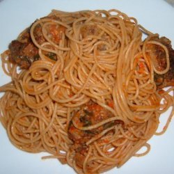 Bobby Flay's Spaghetti and Meat Balls With Tomato Sauce recipe