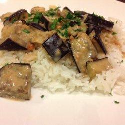 Indonesian Eggplant With Peanut Sauce recipe