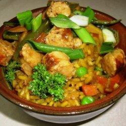 Sausage & Madras Curry Veggies recipe