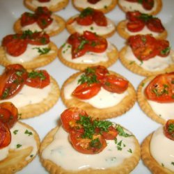 Oven Roasted Tomatoes on  Crackers recipe