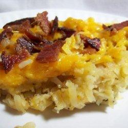Bacon Topped Cheesy  Potatoes recipe
