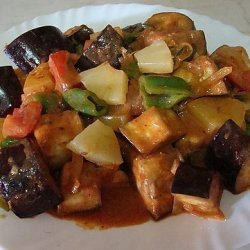 Aubergine and Pineapple Curry recipe