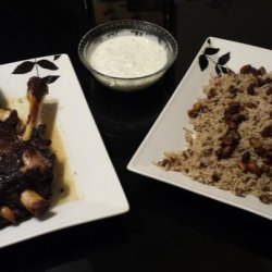 Arabian Roast Lamb Fit for a King and Queen, With Spiced Rice recipe