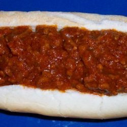 Christine's Thick Hot Dog Meat Sauce recipe