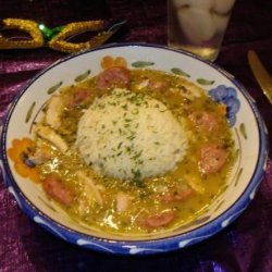 Mardi Gras Chicken and Sausage Gumbo recipe