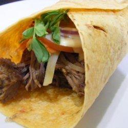 Shredded Beef Wraps recipe
