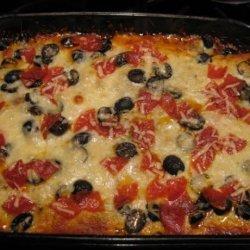 Low Carb Supreme Pizza Casserole recipe