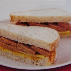 Cheese Sausage and Pickle Sandwich recipe