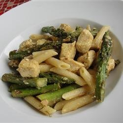 Chicken and Asparagus with Penne Pasta recipe