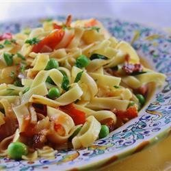 Pasta with Bacon and Peas recipe