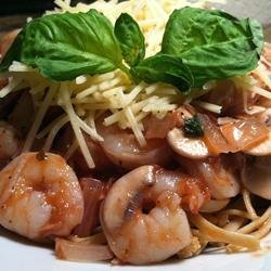 Shrimp Pasta with Tomato Basil Sauce recipe