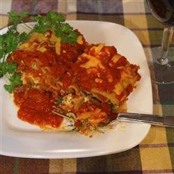 Lighter Simple Lasagna Roll Ups recipe