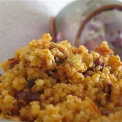Roasted Pecan Couscous with Sun Dried Tomatoes and Mushrooms recipe