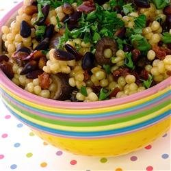 Couscous with Olives and Sun-Dried Tomato recipe