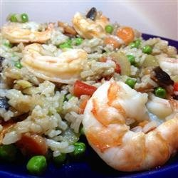 Ginger Shrimp with Fried Rice recipe