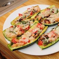Nat's Shrimp and Veggie Stuffed Zucchini recipe