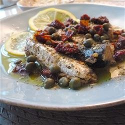 Sardines with Sun-Dried Tomato and Capers recipe