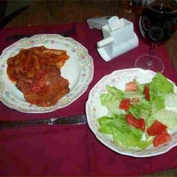 Penne With Pork Chops recipe