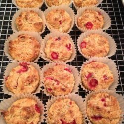 Healthy Fresh Cranberry Orange Coconut Muffins recipe