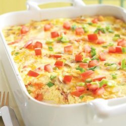 Crustless Bacon and Cheese Quiche recipe