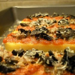 Easy Polenta Pizza Appetizer Bakes recipe